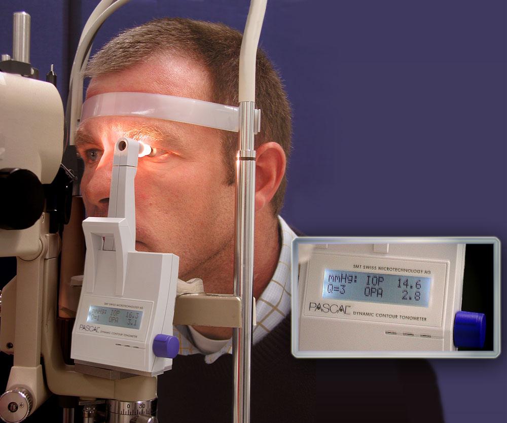 Augeninnendruck - Dürchführung einer DCT - Dynamic Contour Tonometrie